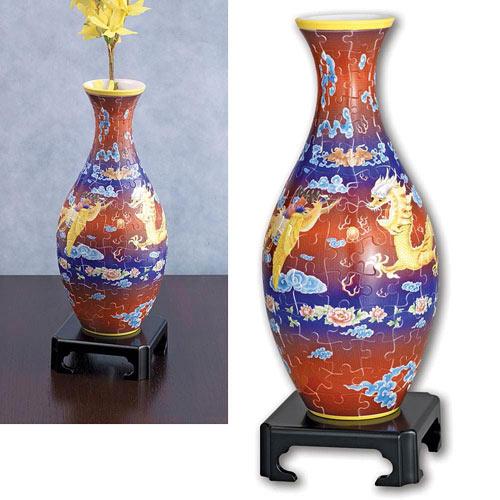 Dragon and Phoenix Vase Puzzle