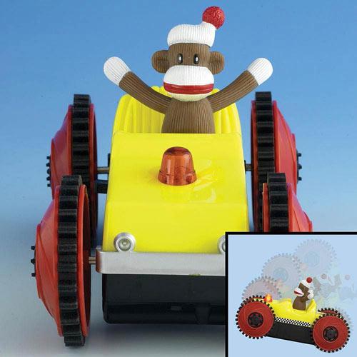 Sock Monkey Tumble Car