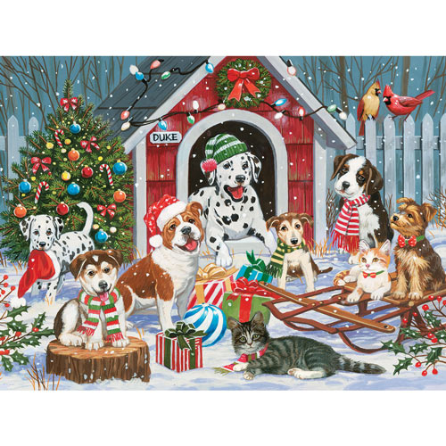 Christmas At Duke's House 300 Large Piece Jigsaw Puzzle