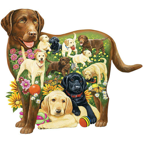 Lovable Labs 300 Large Piece Shaped Jigsaw Puzzle