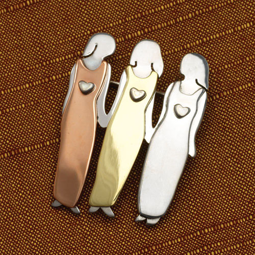 Friends Forever Pin 3 Women Jewelry