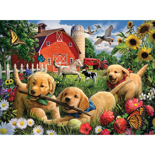 Farmyard Pups 1000 Piece Jigsaw Puzzle