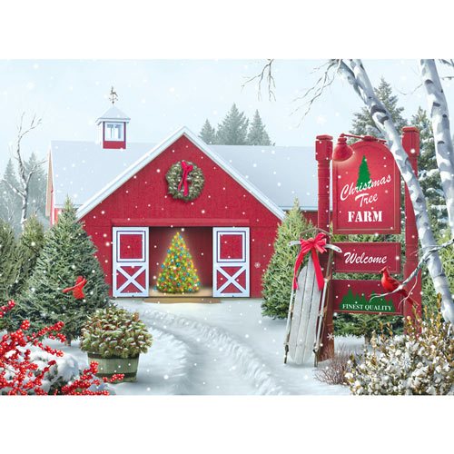 Christmas Tree Farm 300 Large Piece Jigsaw Puzzle