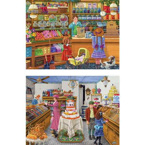 Set of 2: Joseph Burgess 1000 Piece Jigsaw Puzzles