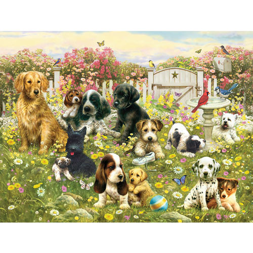 Bunny Bouquet 300 Large Piece Jigsaw Puzzle