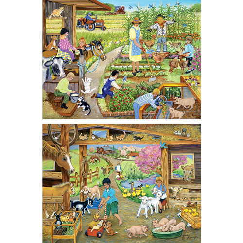 Set of 2: Sandy Rusinko 500 Piece Jigsaw  Puzzles