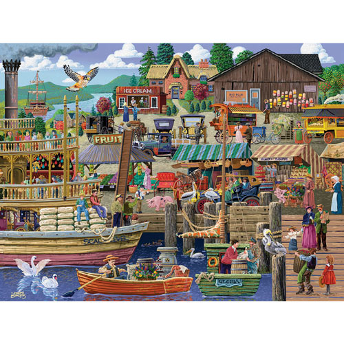 Port Side Market 300 Large Piece Jigsaw Puzzle