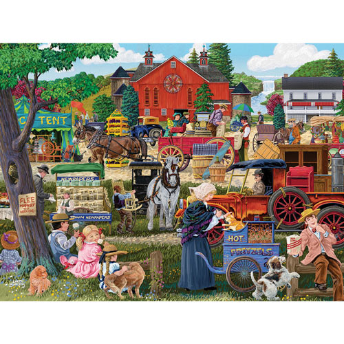 Country Flea Market 300 Large Piece Jigsaw Puzzle