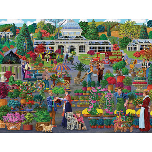 Market At The Conservatory 300 Large Piece Jigsaw Puzzle
