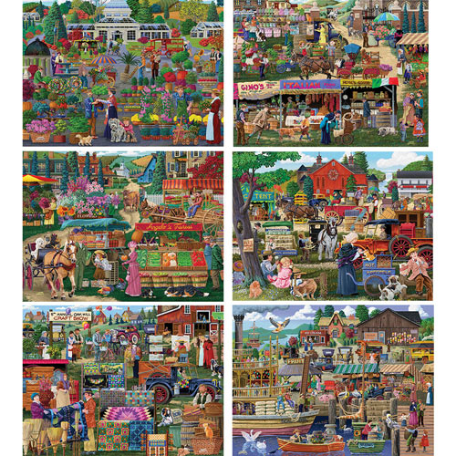 Set of 6: Joseph Burgess 300 Large Piece Jigsaw Puzzles