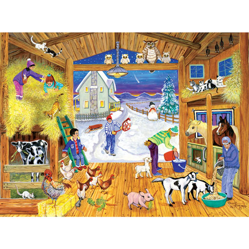 Winter Feeding 1000 Piece Jigsaw Puzzle