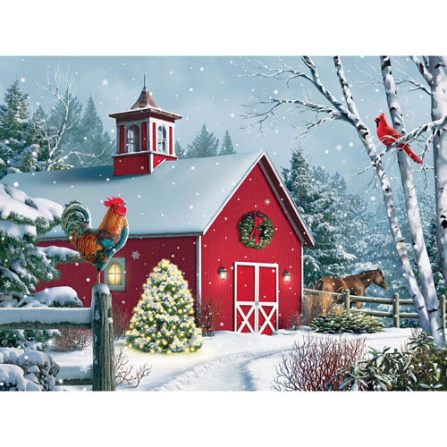 Winter Barn II 1000 Piece Jigsaw Puzzle