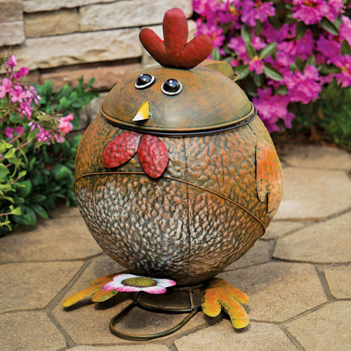 Rooster Trash Can