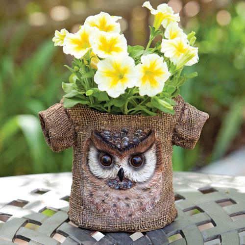 Owl T-Shirt Planter
