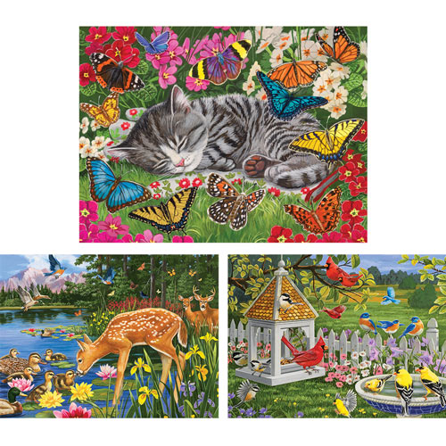 Set of 3: Pre-Boxed: William Vanderdasson 500 Piece Jigsaw Puzzles