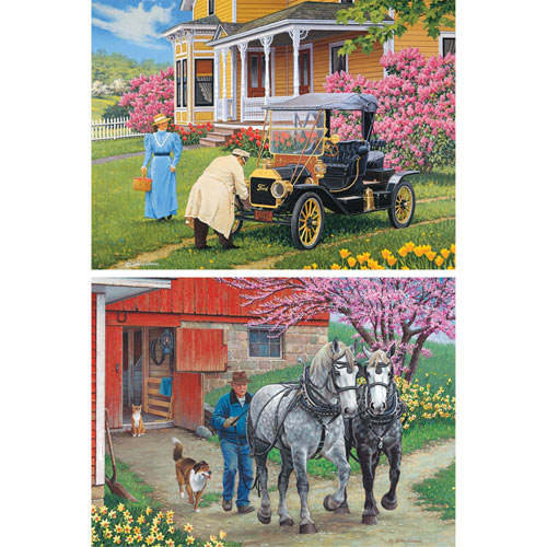 Set of 2 Pre-Boxed: John Sloane 1000 Piece Jigsaw Puzzles