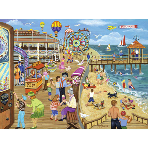 Ice Cream on the Boardwalk 1000 Piece Jigsaw Puzzle