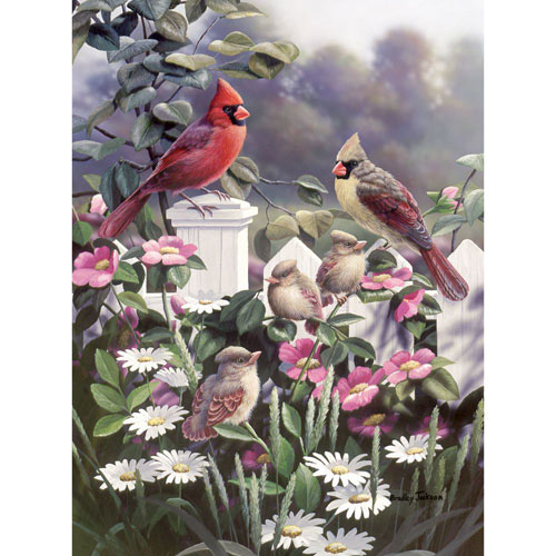 Cardinals and Babies 500 Piece Jigsaw Puzzle