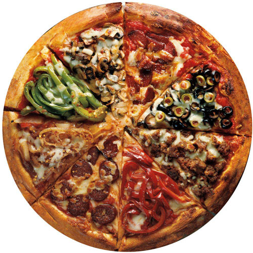Pizza Pie 300 Large Piece Round Collage Puzzle