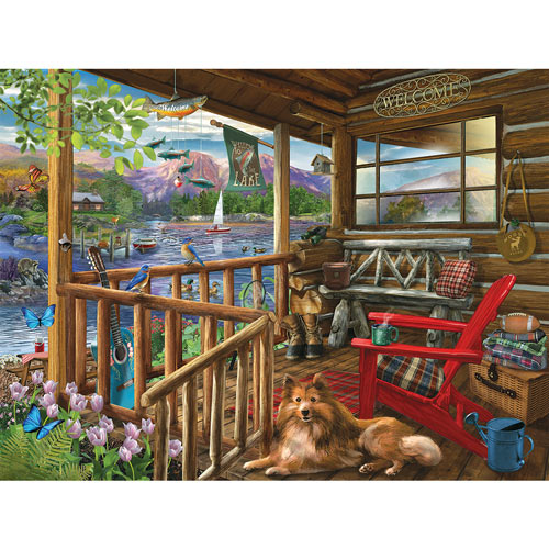 Porch Life 300 Large Piece Jigsaw Puzzle