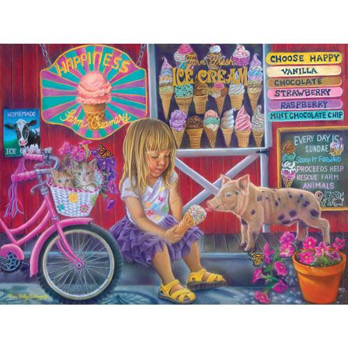 Happiness Ice Cream Shop 500 Piece Jigsaw Puzzle