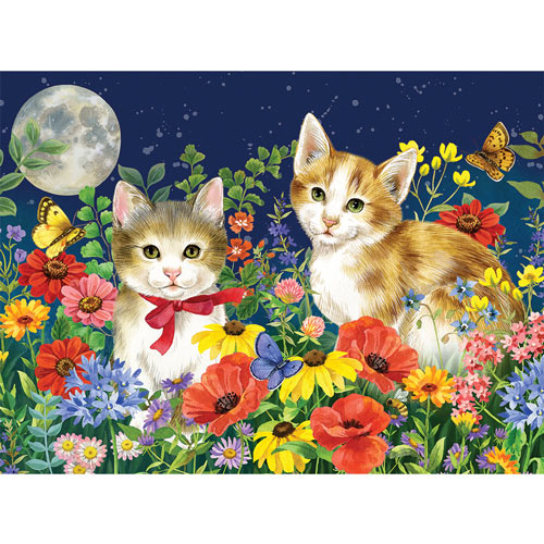 Midnight Kittens 500 Piece Jigsaw Puzzle