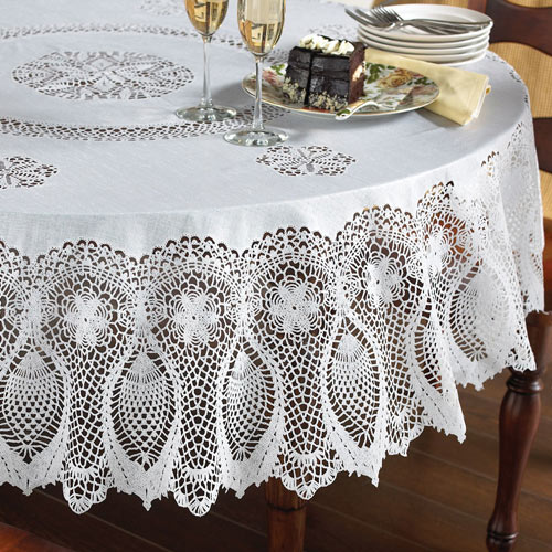 Faux Lace Tablecloths