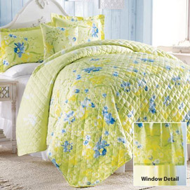 Iris Garden Quilt Set - King