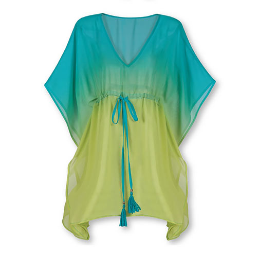 Ombré Drawstring Cover-Up