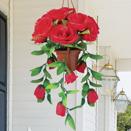 Red Cascading Roses