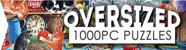 Oversized 1000 Piece Jigsaw Puzzles