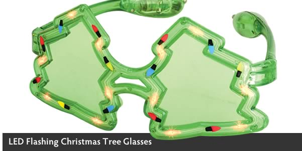 CHRISTMAS TREES LED GLASSES