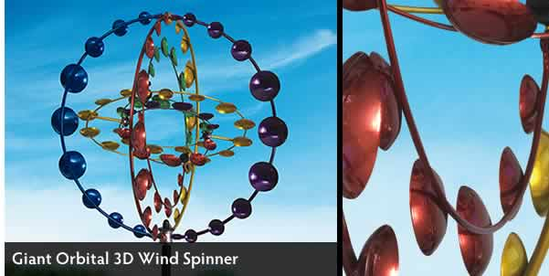 Giant Orbital 3D Wind Spinner