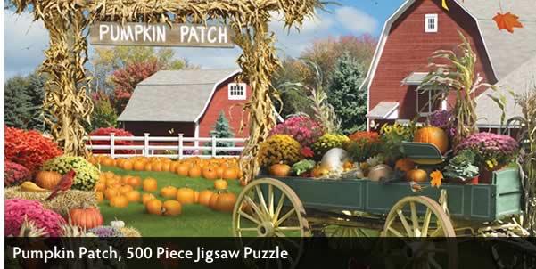 Pumpkin Patch 500 Piece Jigsaw Puzzle