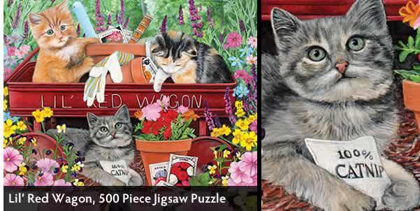 Lil' Red Wagon 500 Piece Jigsaw Puzzle