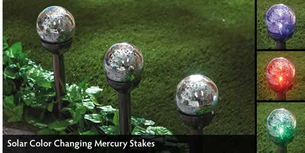 Solar Color Changing Mercury Stakes