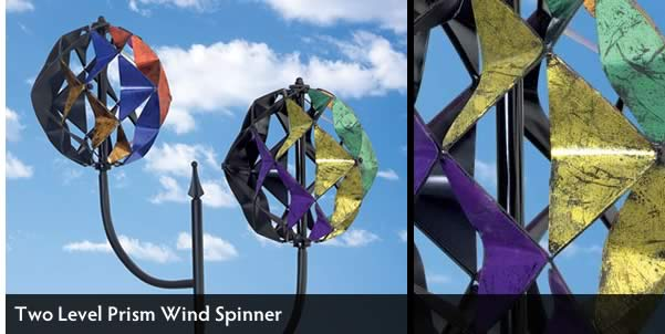 Two Level Prism Wind Spinner