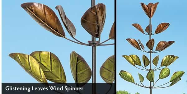 Glistening Leaves Wind Spinner