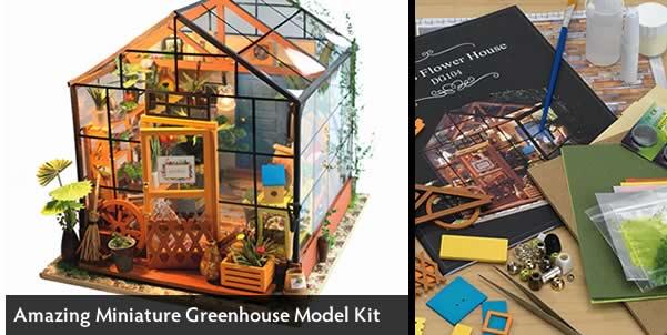 Amazing Miniature Greenhouse Model Kit