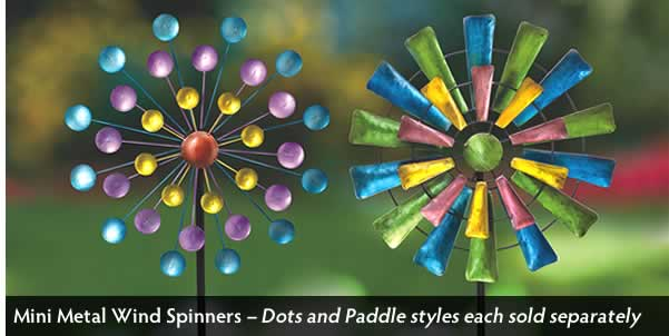 Paddle Mini Metal Wind Spinner