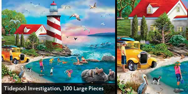 Tidepool Investigation 300 Large Piece Jigsaw Puzzle