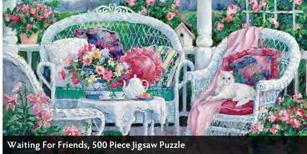 Waiting For Friends 500 Piece Jigsaw Puzzle