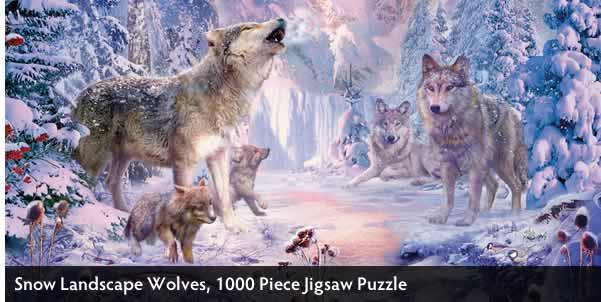 Snow Landscape Wolves 1000 Piece Jigsaw Puzzle