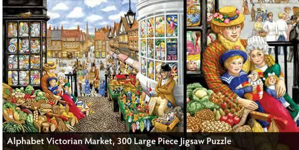 Alphabet Victorian Market 300 Large Piece Jigsaw Puzzle