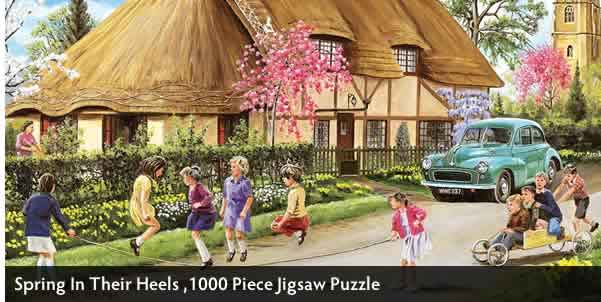 Spring In Their Heels 1000 Piece Jigsaw Puzzle