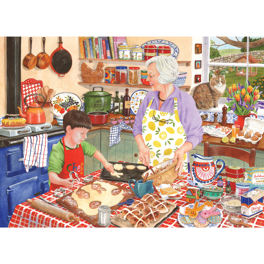 Grandma S Kitchen Hot Cross Buns 1000 Piece Jigsaw Puzzle Bits And Pieces Ca