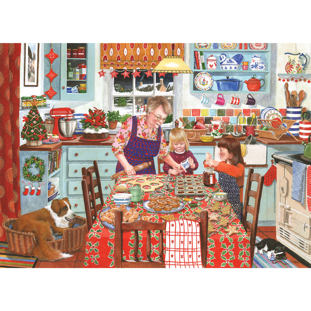Grandma S Kitchen Mince Pies 1000 Piece Jigsaw Puzzle Bits And Pieces