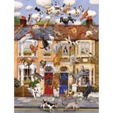 Raining Cats & Dogs 500 Piece Jigsaw Puzzle