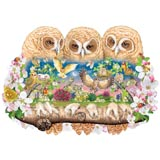 Owlets in the Moonlight 750 Pieces Shaped Puzzle