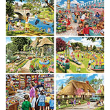 Set of 6: Trevor Mitchell 300 Large Piece Jigsaw Puzzles